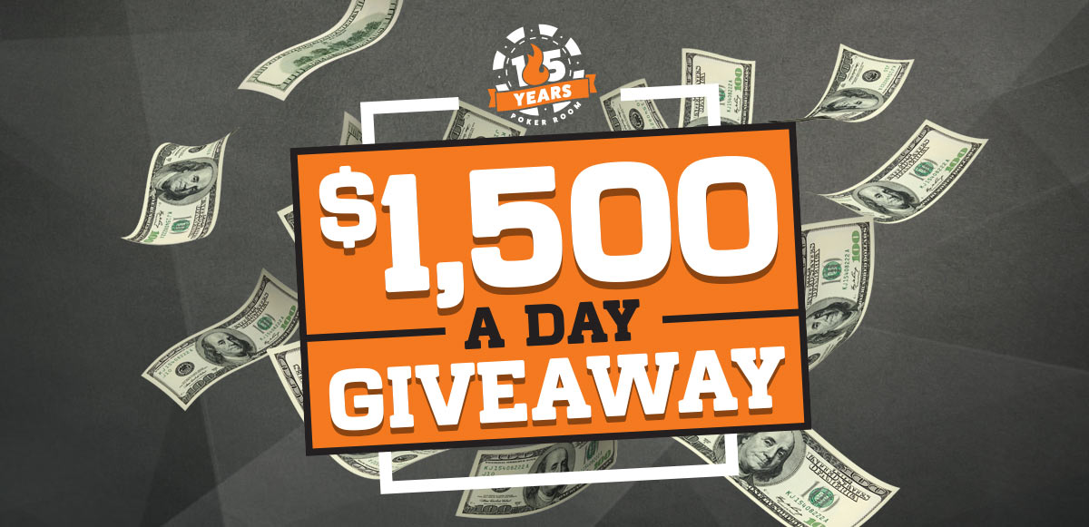 $1,500 A DAY GIVEAWAY
