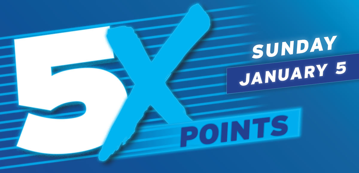 5X Points