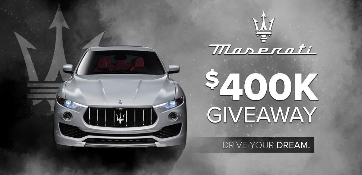 Maserati $400K Giveaway