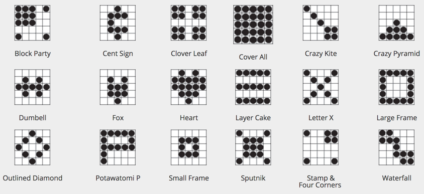 Trust image pertaining to printable bingo patterns
