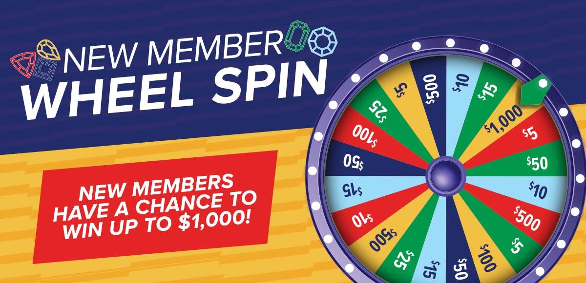 New Member Wheel Spin