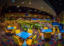 The bingo room is remodeled in 2018