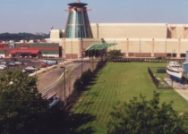 Casino expansion showing the original building at left, 2000