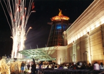On November 1, 2000, the newly expanded Casino opened with fireworks and the lighting of the flame atop the new building.