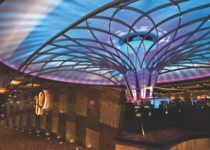 A focal point of the expansion was the creation of Bar 360 in the center of the gaming floor. It is a contemporary portrayal of a dream catcher and the lights change throughout the day.