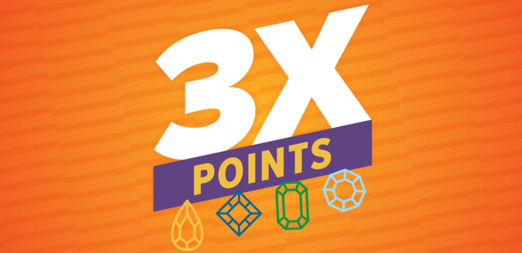 3x Points Morning Multipliers